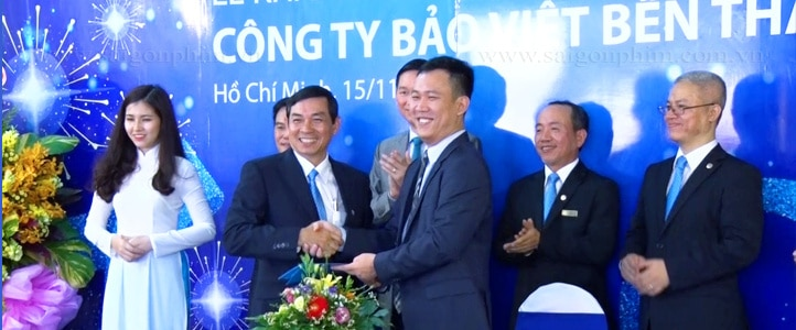 Quay phim le khai truong cong ty bao viet ben thanh www.saigonphim.com.vn