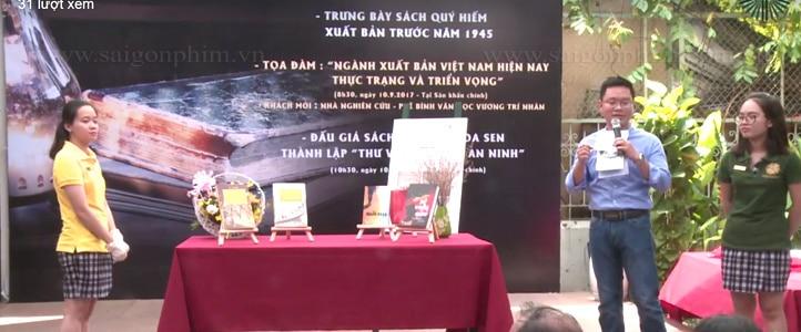 Live stream chuong trinh dau gia sach gay quy hoa sen thanh lap thu vien Nguyen An Ninh www.saigonphim.vn www.saigonphim.com.vn