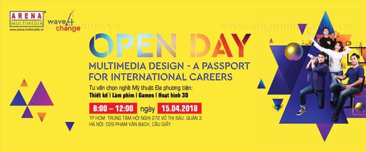 Live Stream su kien Open Day Arena Multimedia Design Dich vu quay phim, dich vu live stream saigonphim.com.vn