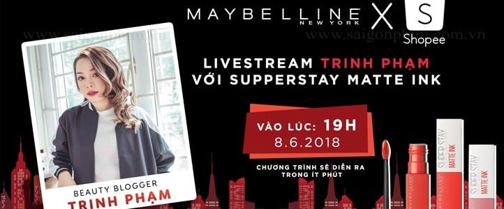 Live Stream Talkshow: Trinh Phạm với Supperstay Matte Ink