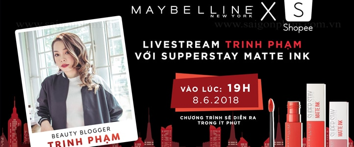 Live Stream Talkshow Trinh pham voi Supper Stay Matte Ink