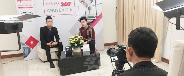 Quay phim Talkshow nhà đất 360 saigonphim.com.vn